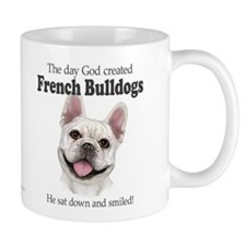 God smiled: Cream Frenchie Mug