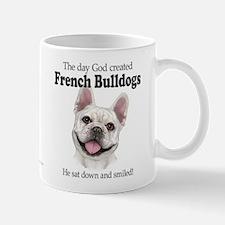 God smiled: Cream Frenchie Mug