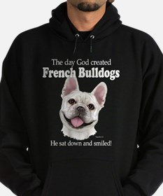 God smiled: Cream Frenchie Hoodie