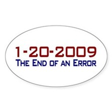 End of an Error Oval Decal