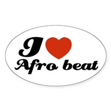 I love Afro beat Oval Decal