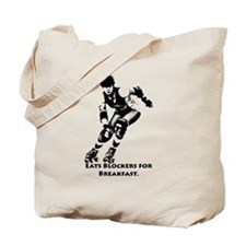 Eats Blockers for Breakfast. Tote Bag