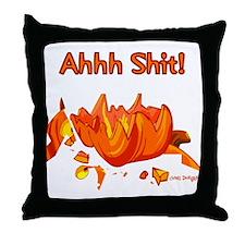Ahhh Shit Pumpkin One Side Throw Pillow