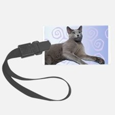 Russian Blue Cat Luggage Tag