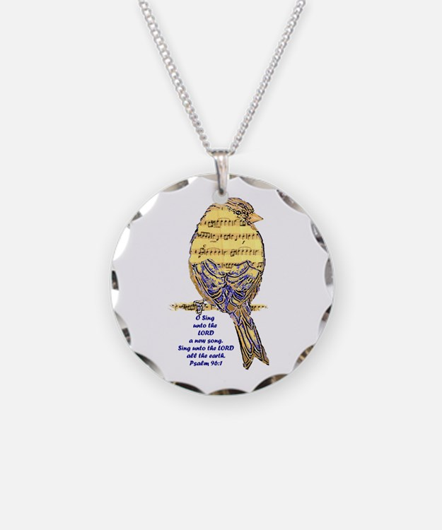 Psalm 96:1 Sing Unto The Necklace Circle Charm