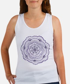 Purple Flower Doodle Tank Top