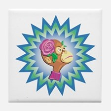 Flower Monkey Tile Coaster