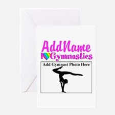 GORGEOUS GYMNAST Greeting Card