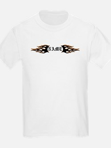 Black/Orange Flames T-Shirt