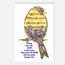 Psalm 96:1 Sing Unto The Postcards (package Of 8)