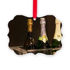 An ice bar with champagne coolers Ornament