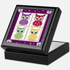 Cute Owls Keepsake Box