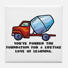 Cute gifts for teachers Tile Coaster
