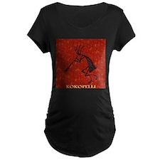 Kokopelli Red Coral and Turqu T-Shirt