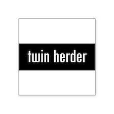 "Cute Parents twins Square Sticker 3"" x 3"""