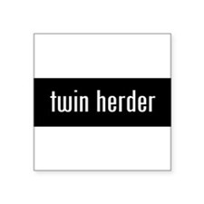 "Unique Dads of twins Square Sticker 3"" x 3"""