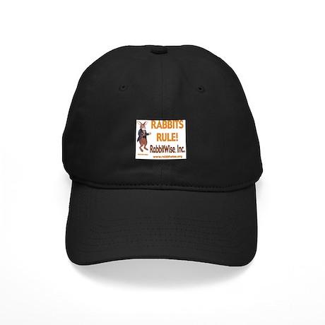Rabbits Rule Black Cap