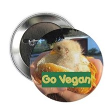 "Go Vegan 2.25"" Button"