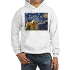 Starry Night & 2 Wheatens Hoodie