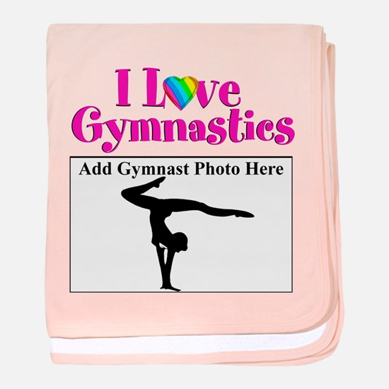GYMNAST LOVE baby blanket