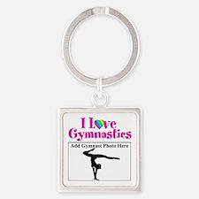 GYMNAST LOVE Square Keychain