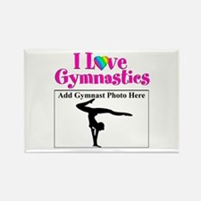 GYMNAST LOVE Rectangle Magnet (10 pack)