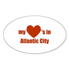 Atlantic City Oval Decal