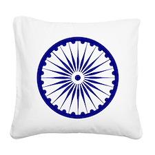 Ashoka Chakra Square Canvas Pillow