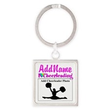 AWESOME CHEER Square Keychain