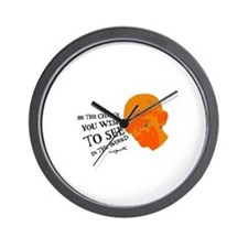 Gandhi G - Pop - Be The Chang Wall Clock