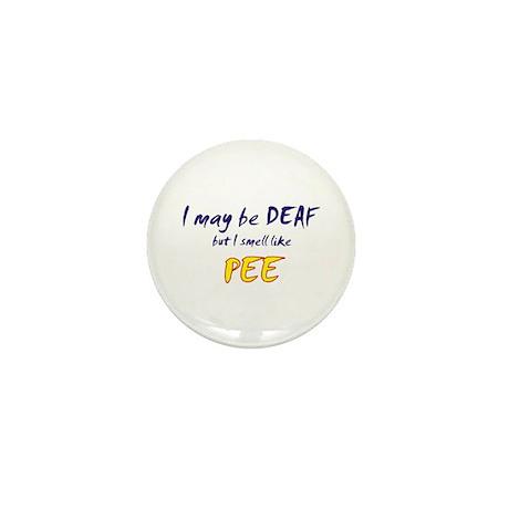 Deaf Pee Mini Button