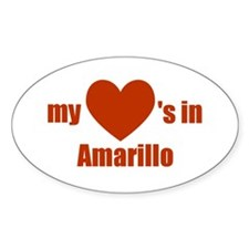 Amarillo Oval Decal