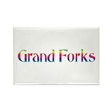 Grand Forks Rectangle Magnet