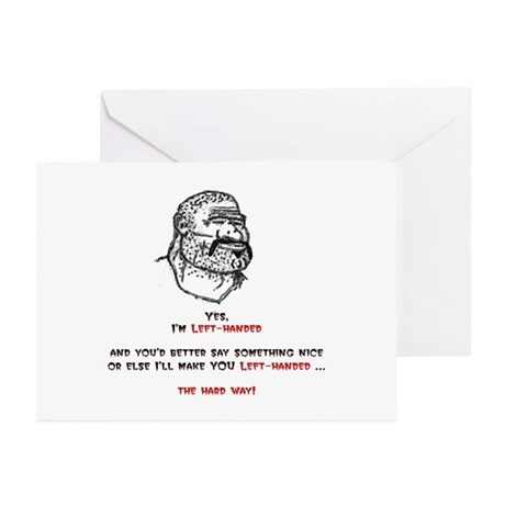 The hard way Greeting Cards (Pk of 10)