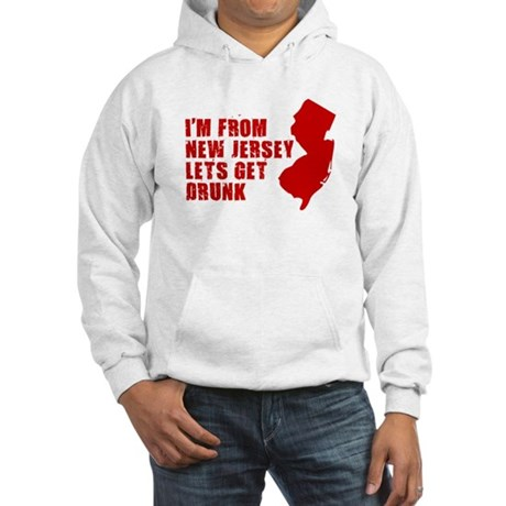 NEW JERSEY DRINKING SHIRT FUN Hooded Sweatshirt