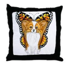 Papillon In Disguise Throw Pillow