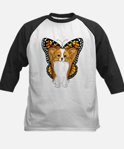 Papillon In Disguise Kids Baseball Jersey