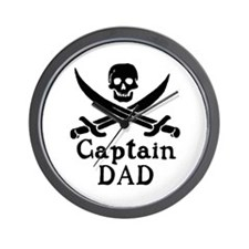Captain Dad Wall Clock