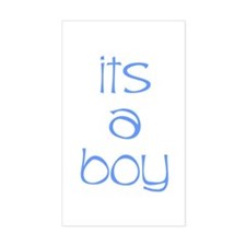 Its A Boy Rectangle Decal