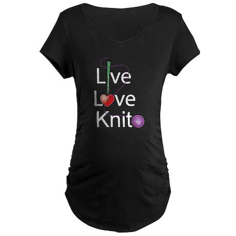 Live Love KNIT Maternity Dark T-Shirt