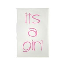 Its A Girl Rectangle Magnet