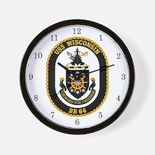 USS Wisconsin BB-64 Wall Clock