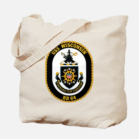 USS Wisconsin BB-64 Tote Bag