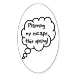 Planning Escape (Spring) Oval Sticker