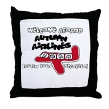 Autumn Airlines Throw Pillow