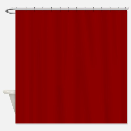 Cute Red Shower Curtain