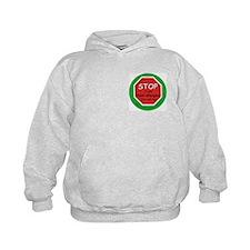 STOP I have food allergies Hoodie-back design
