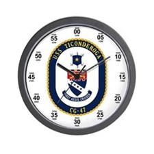 USS Ticonderoga CG-47 Navy Time Wall Clock