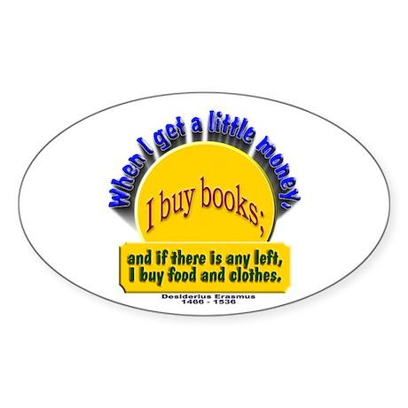 Book Lover's Oval Sticker