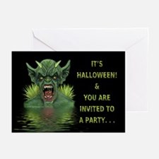 Swamp Demon Halloween Invitations (Pk of 10)